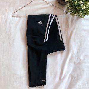 Adidas Response Leggings (black + stripes)